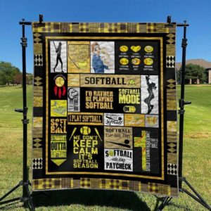 We Don't Keep Calm It's Softball Season Quilt Blanket Great Customized Blanket Gifts For Birthday Christmas Thanksgiving