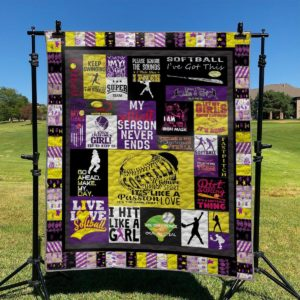 My Softball Season Never Ends Quilt Blanket Great Customized Blanket Gifts For Birthday Christmas Thanksgiving