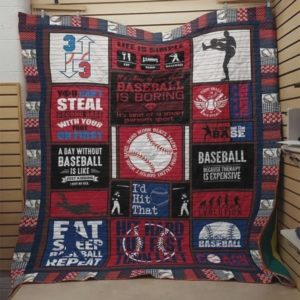 Baseball Because Therapy Is Expensive Quilt Blanket Great Customized Blanket Gifts For Birthday Christmas Thanksgiving