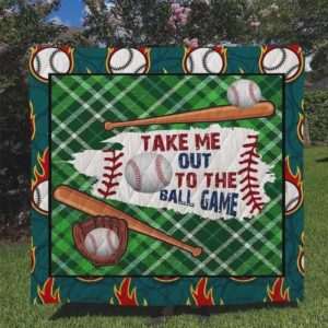 Baseball Take Me Out To The Ball Game Quilt Blanket Great Customized Blanket Gifts For Birthday Christmas Thanksgiving