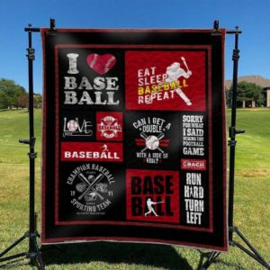 Eat Sleep Baseball Repeat Quilt Blanket Great Customized Blanket Gifts For Birthday Christmas Thanksgiving