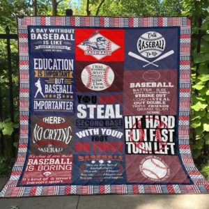 Talk Baseball To Me Quilt Blanket Great Customized Blanket Gifts For Birthday Christmas Thanksgiving