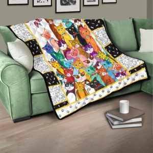 Mutiple Colorful Cats Quilt Blanket Great Customized Blanket Gifts For Birthday Christmas Thanksgiving