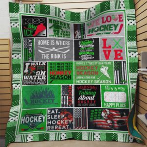 Hockey Home Is Where The Rink Is Quilt Blanket Great Customized Blanket Gifts For Birthday Christmas Thanksgiving