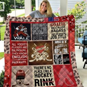 Hockey Goalie Because Badass Isn't An Official Job Title Quilt Blanket Great Customized Blanket Gifts For Birthday Christmas Thanksgiving