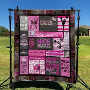 Cheerleading Keep Calm And Stunt On Quilt Blanket Great Customized Blanket Gifts For Birthday Christmas Thanksgiving