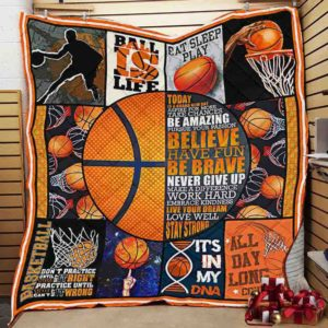 Basketball Live Your Dream Love Well Stay Strong Quilt Blanket Great Customized Blanket Gifts For Birthday Christmas Thanksgiving