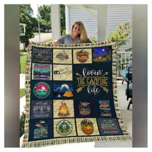 Lovin' The Camping Life Quilt Blanket Great Customized Blanket Gifts For Birthday Christmas Thanksgiving