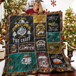 Camping I Camp To Burn Off The Crazy Quilt Blanket Great Customized Blanket Gifts For Birthday Christmas Thanksgiving