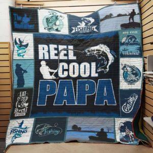 Fishing Dad Quilt Blanket