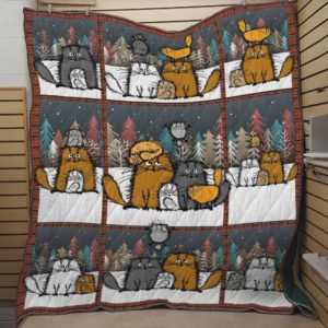 Cat Always Beside Me Quilt Blanket Great Customized Blanket Gifts For Birthday Christmas Thanksgiving