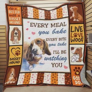 Dachshund Live Love Woof Quilt Blanket Great Customized Blanket Gifts For Birthday Christmas Thanksgiving