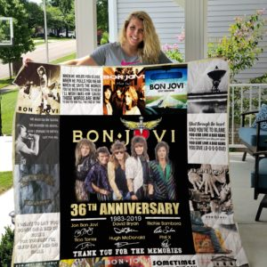 Bon Jovi 36th Anniversary Quilt Blanket