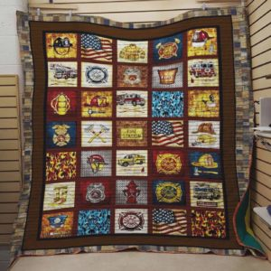 Firefighter Symbols Of Firefighter Quilt Blanket Great Customized Blanket Gifts For Birthday Christmas Thanksgiving Perfect Gift For Firefighters