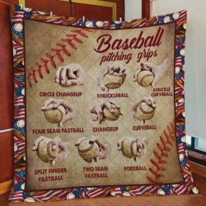 Baseball Pitching Grips Quilt Blanket Perfect Gift For Baseball Lovers Great Customized Blanket Gifts For Birthday Christmas Thanksgiving Anniversary