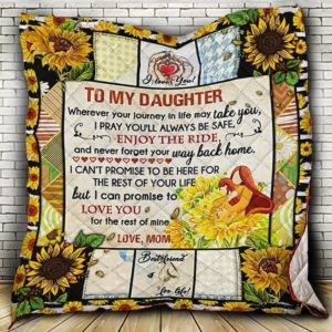 To My Daughter, Love, Mom Quilt Blanket