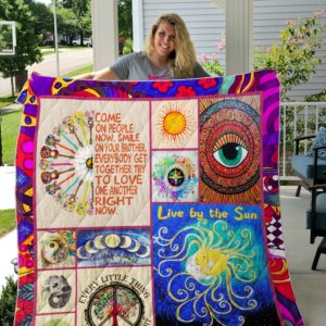 Hippie Elephant Mandala Smile On Your Brother Quilt Blanket Great Customized Gifts For Birthday Christmas Thanksgiving Perfect Gifts For Elephant Lover