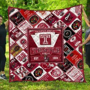 Ncaa Temple Owls Quilt Blanket #1134
