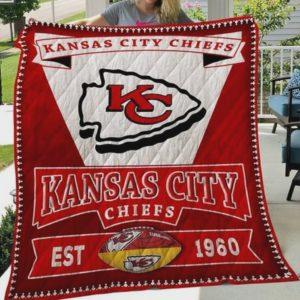 Kansas City Chiefs Quilt Blanket Ha1910 Fan Made