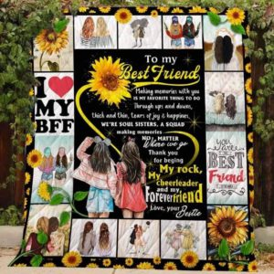 Personalized Bestie To My Bestie A Squad Making Memories Quilt Blanket Great Customized Gifts For Birthday Christmas Thanksgiving Perfect Gifts For Bestfriend