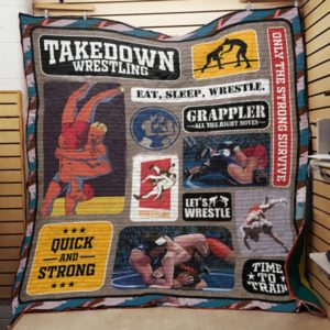 Wrestling Take Down Wrestling Quilt Blanket Great Customized Gifts For Birthday Christmas Thanksgiving Perfect Gifts For Wrestling Lover
