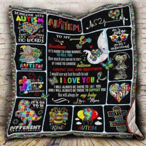Personalized Autism To My Son Quilt Blanket From Mom You Will Always Be My Baby Great Customized Blanket Gifts For Birthday Christmas Thanksgiving