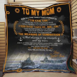 Personalized To My Mom Quilt Blanket From Son Thanks For All The Special Little Things You Do Great Customized Blanket Gifts For Birthday Christmas Thanksgiving Mother's Day
