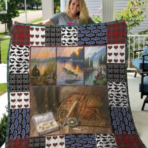 Fishing Equipment Quilt Blanket Great Customized Gifts For Birthday Christmas Thanksgiving Perfect Gifts For Fishing Lover