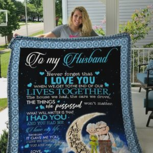 Personalized Moon To My Husband I Love You Quilt Blanket From Wife Great Customized Blanket Gifts For Birthday Christmas Thanksgiving Anniversary