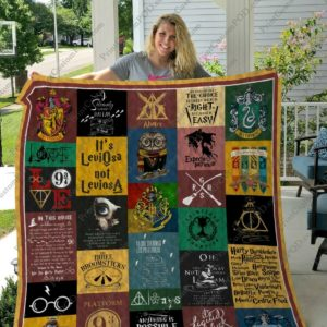 Harry_potter, Muggle, Hogwarts Magic School Quilt Blanket Gift Idea For Fans