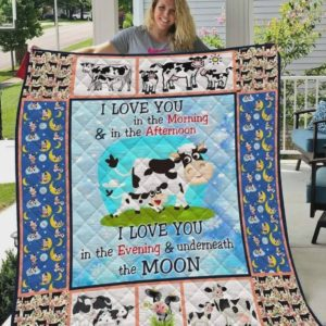 Cows Love You All The Time Quilt Blanket Great Customized Blanket  Gifts For Birthday Christmas Thanksgiving