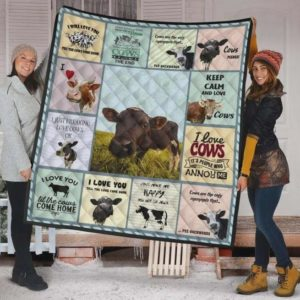 Cows I Love You Till The Cows Come Home Quilt Blanket Great Customized Blanket Gifts For Birthday Christmas Thanksgiving