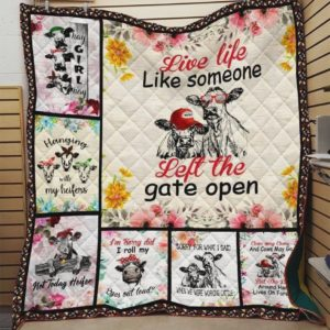 Cows Eyes Out Loud Quilt Blanket Great Customized Blanket  Gifts For Birthday Christmas Thanksgiving