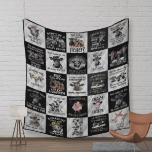 Cows Don't Be A Salty Heifer Quilt Blanket Great Customized Blanket Gifts For Birthday Christmas Thanksgiving
