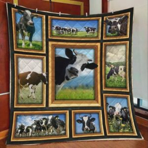 Cow In Farm Quilt Blanket Great Customized Blanket Gifts For Birthday Christmas Thanksgiving