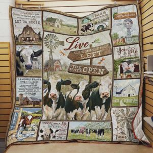 Cows On The Farm Quilt Blanket Great Customized Blanket Gifts For Birthday Christmas Thanksgiving