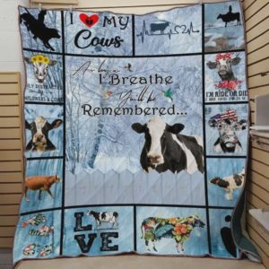 Cow I'm Ride Or Die Quilt Blanket Great Customized Blanket Gifts For Birthday Christmas Thanksgiving