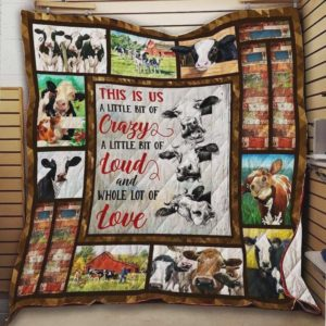 Cow Crazy Loud Love Quilt Blanket Great Customized Blanket Gifts For Birthday Christmas Thanksgiving