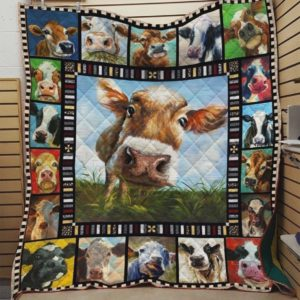 Dairy Cow Quilt Blanket Great Customized Blanket Gifts For Birthday Christmas Thanksgiving