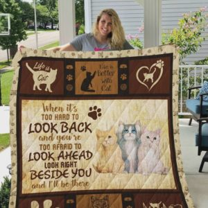 Life Is Cat Quilt Blanket Great Customized Blanket Gifts For Birthday Christmas Thanksgiving
