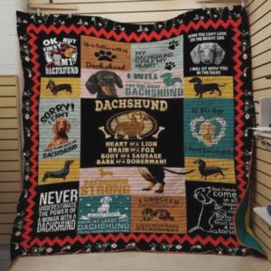 Dachshund Ok But First Let Me Love My Dachshund Quilt Blanket Great Customized Blanket Gifts For Birthday Christmas Thanksgiving Perfect Gifts For Dachshund Lovers