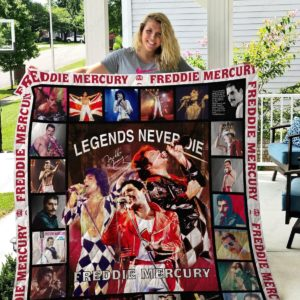 Freddie Mercury Queen Band Quilt Blanket Gifts For Fans Birthday Christmas
