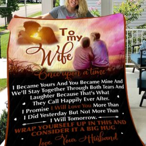 Personalized To My Wife From Husband I Promise I Will Love You More Than I Did Yesterday Quilt Blanket Great Customized Blanket Gifts For Birthday Christmas Thanksgiving Mother's Day