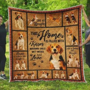 Beagle Home Quilt Blanket Great Customized Blanket Gifts For Birthday Christmas Thanksgiving