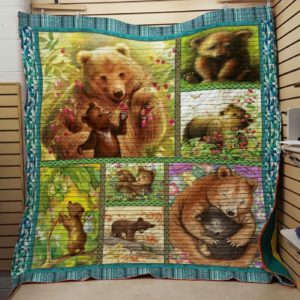 Bear Mom To My Mom From Son From Daughter Quilt Blanket Great Customized Blanket Gifts For Birthday Christmas Thanksgiving Mother's Day