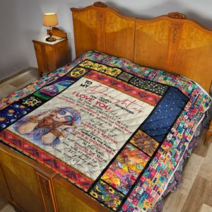 Personalized Hippie Stay Strong Be Confident To My Daughter From Mom Quilt Blanket Great Customized Blanket Gifts For Birthday Christmas Thanksgiving Mother's Day