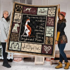 Best Greyhound Mom Ever To My Mom From Son From Daughter Quilt Blanket Great Customized Blanket Gifts For Birthday Christmas Thanksgiving Mother's Day