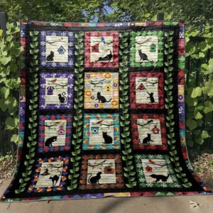 Sweet Cat Moments In A Square Quilt Blanket Great Customized Blanket Gifts For Birthday Christmas Thanksgiving Perfect Gifts For Animals Lovers