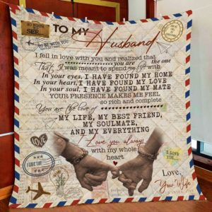Personalized Letter Family You Are The Love Of My Life To My Husband From Wife Quilt Blanket Great Customized Blanket Gifts For Birthday Christmas Thanksgiving Valentine's Day