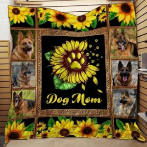 German Dog Mom Blanket Gifts For Dog's Owners  And Pets From Son Daughter Gifts For Mom Sunflower Dog Dog Lovers Quilt Blanket Great Customized Blanket Gifts For Mother's Day Birthday Christmas Thanksgiving